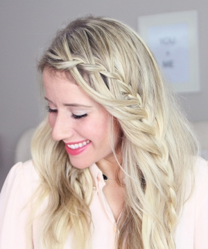 Waterfall Accent Braid tutorial + Dealing with Baby Hairs