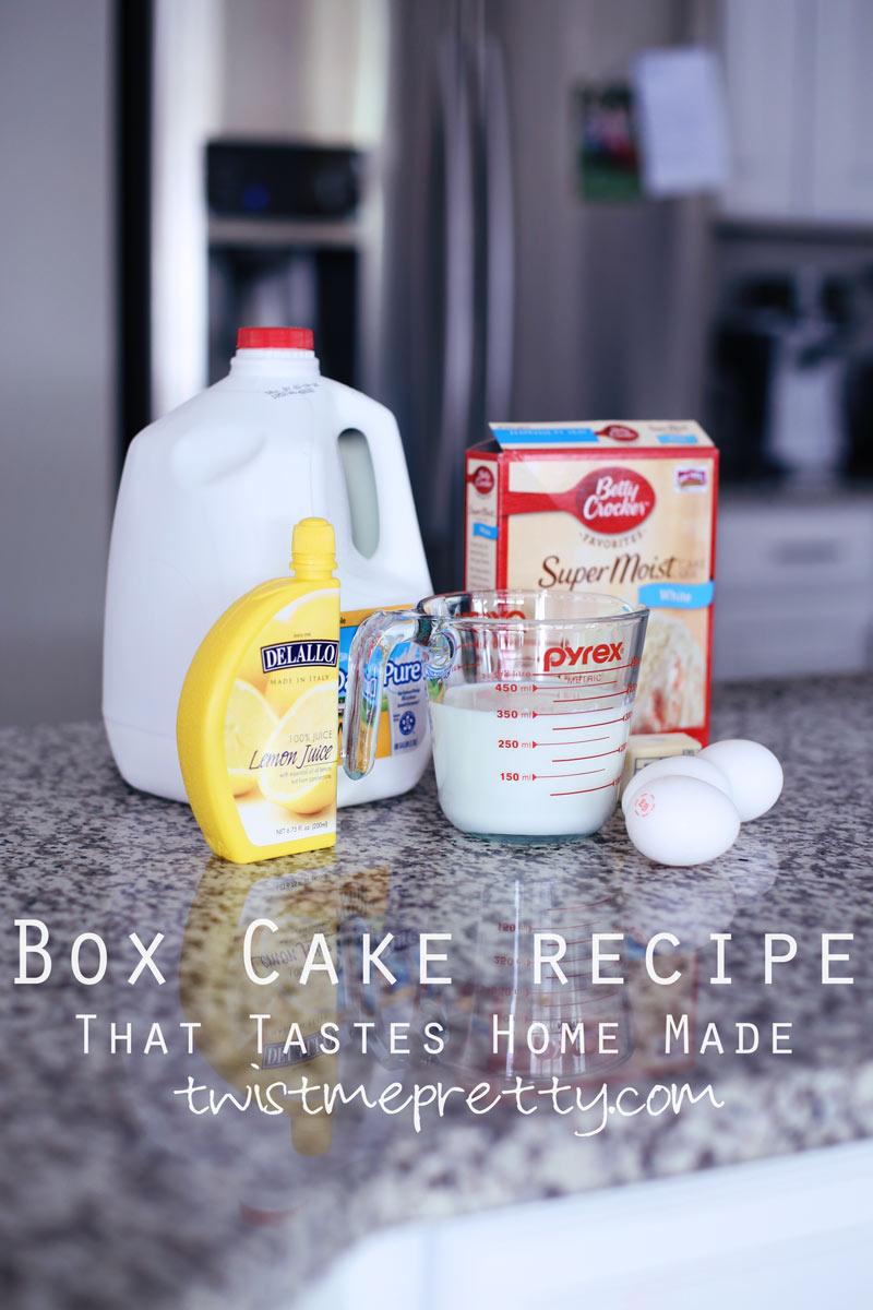 Box cake recipe that tastes homemade by Twist Me Pretty.
