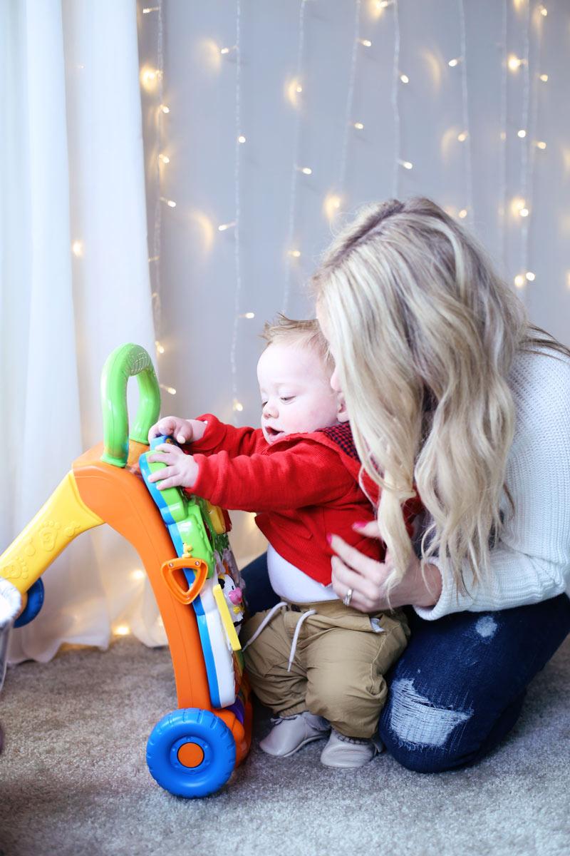 Abby plays with her baby boy. Twist Me Pretty. 5 ways to self-love