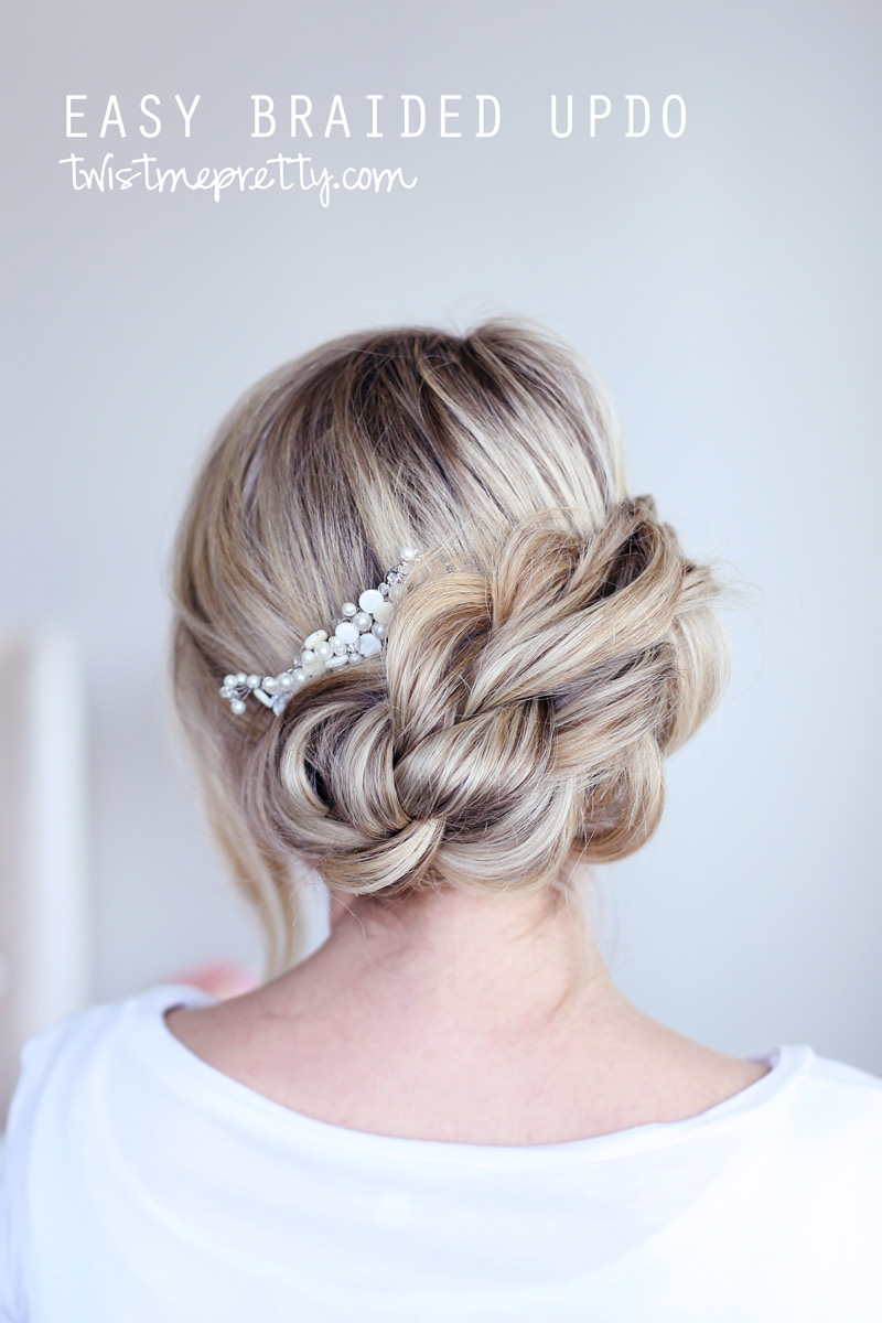 Easy Braided Updo Twist Me Pretty