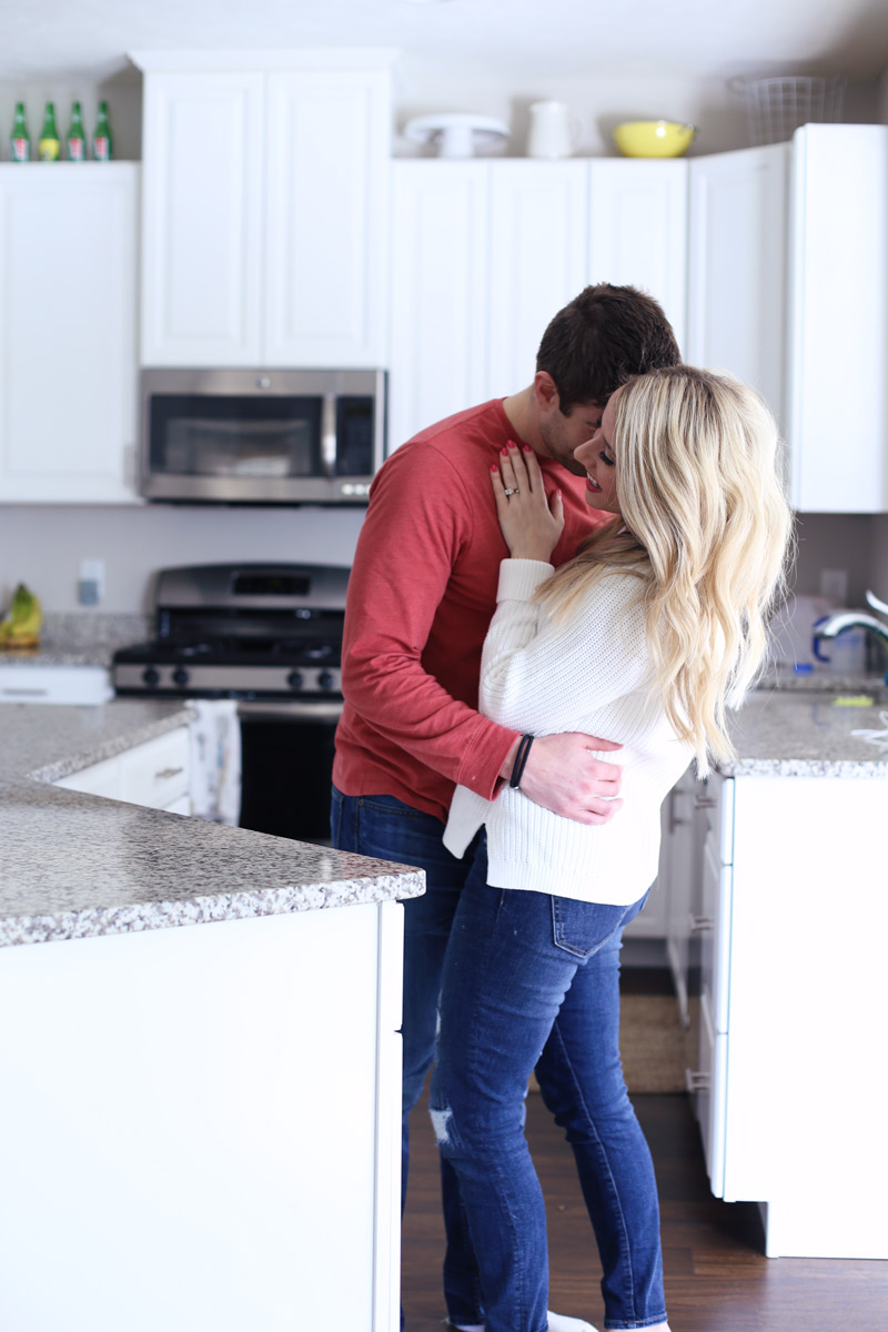 Romantic moments between husband and wife in the kitchen. Twist Me Pretty. 5 ways to self-love