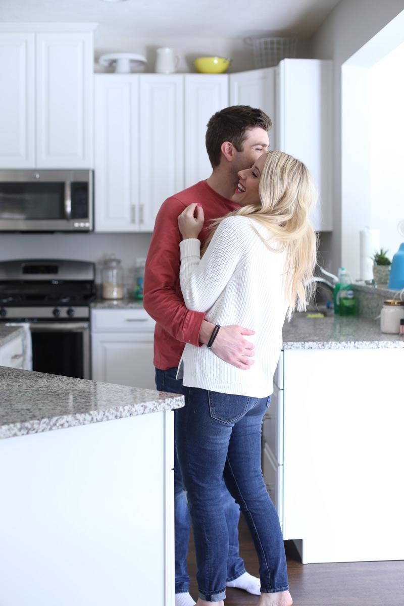 Abby holds her husband. Twist Me Pretty. 5 ways to self-love