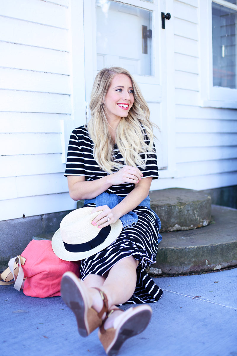With her panama hat off, Abby's hat looks floaty and beautiful