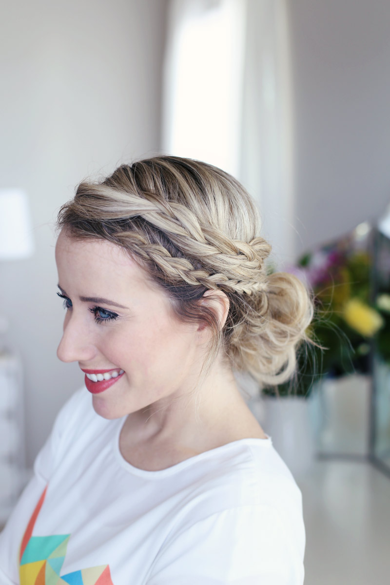 Twist Me Pretty's Laced Braid Up-do looks great from all angles. Check out her tutorial.