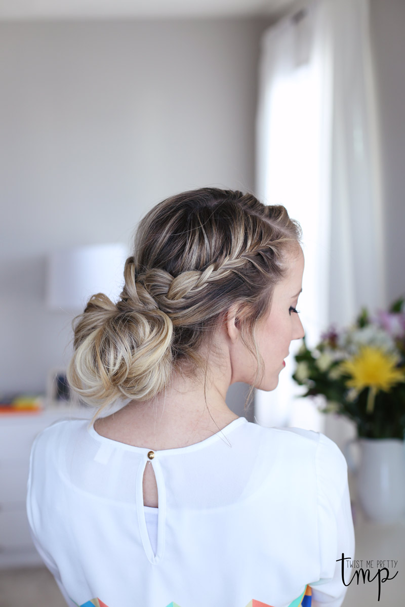 Twist Me Pretty's Laced Braid Up-do looks great from all angles. Check out the tutorial.
