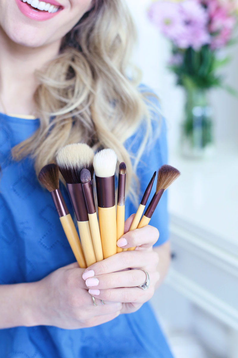 A bouquet of EcoTools brushes