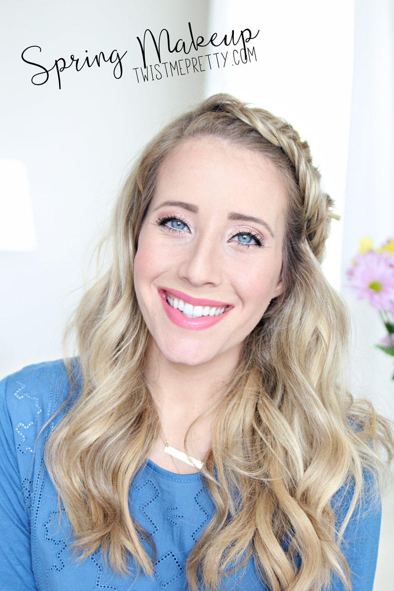 Twist Me Pretty's Abby shows off her Spring Make up look