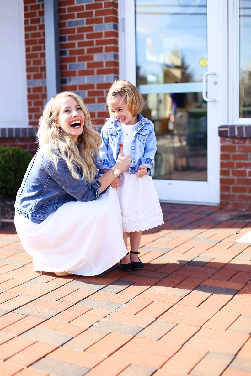 Delightful - mom and daughter laugh