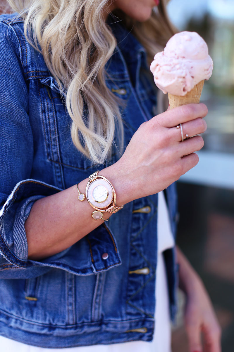 Gorgeous gold details - Abby's bracelets and rings