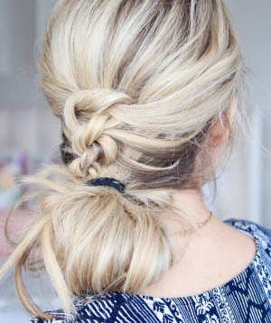Cute Knotted Half-Up Hairstyle