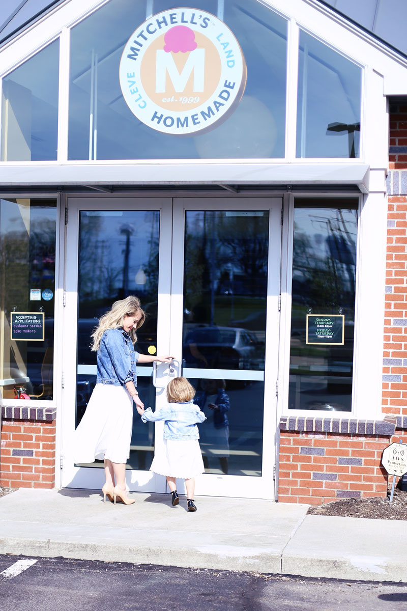 Mother-daughter ice cream date