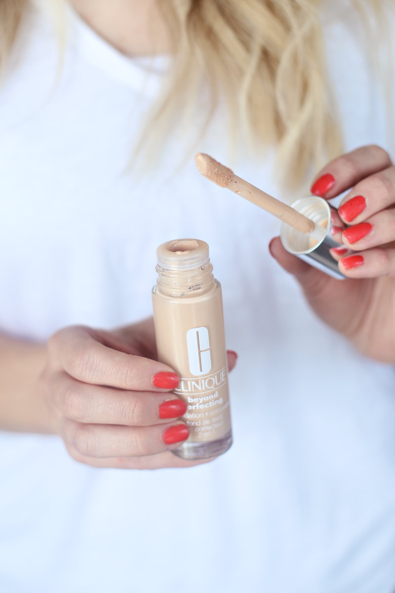 Abby loves her Clinique's Beyond Perfecting Foundation and Concealer.