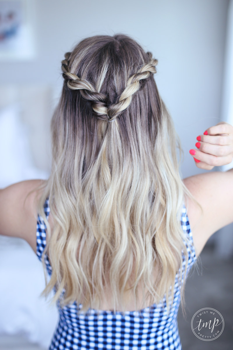 Cute Summer Twists Beach Hairstyle Twist Me Pretty