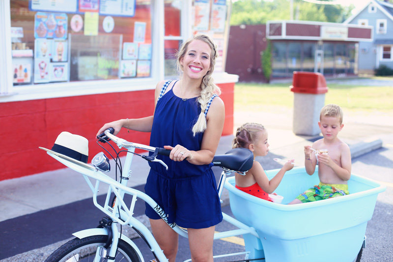 Special time with Abby and the big kids in the Bucket Bike