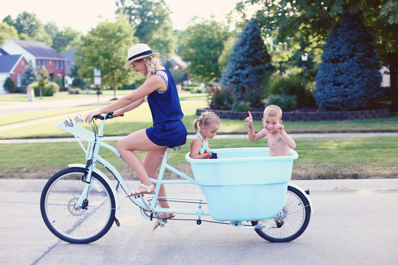 Bucket Bikes are the perfect way to exercise and spend time with kids.