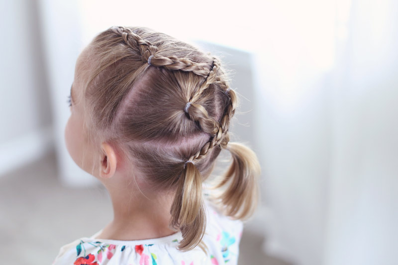 Hairstyles for little girls. Abby's daughter shares the knowledge that it is important to love your hair.
