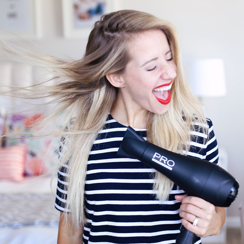 If you want to know how to blow dry your hair with a round brush, you need a good quality hair dryer. Find out more at Twist Me Pretty.