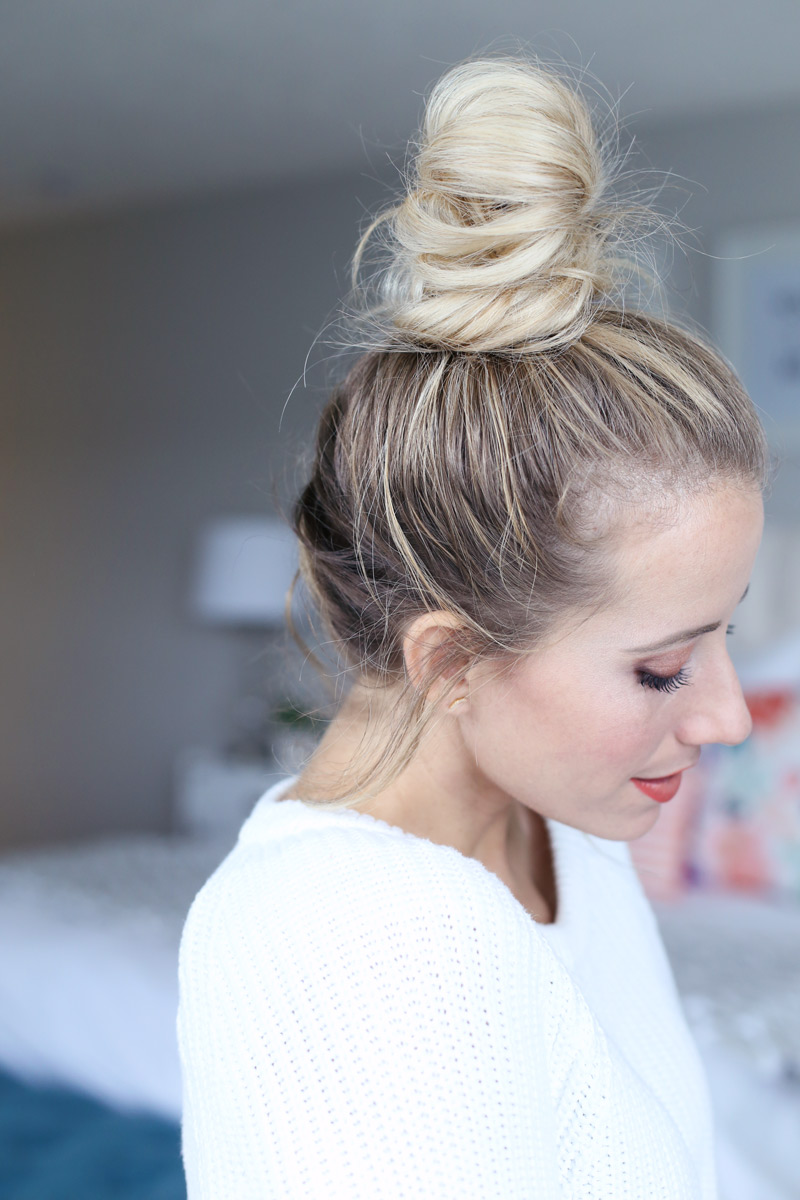 French braided top knot - elegant and easy. A how-to guide.
