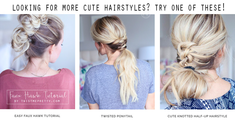 Cute hairstyles like the french braided top knot