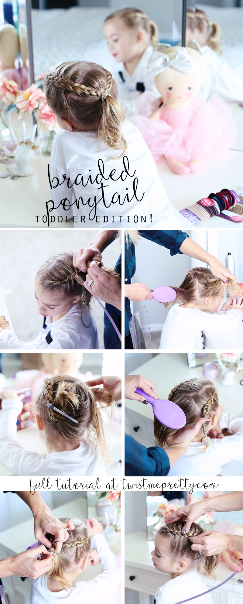 Twist Me Pretty - Our Morning Routine. Braided Pony Tail - Toddler edition tutorial