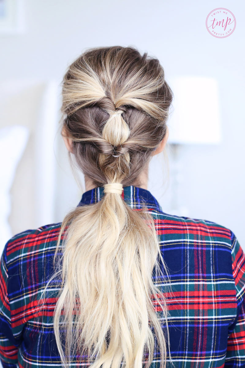 Simple, elegant, easy. You can find the perfect Christmas morning hairstyles at Twist Me Pretty.