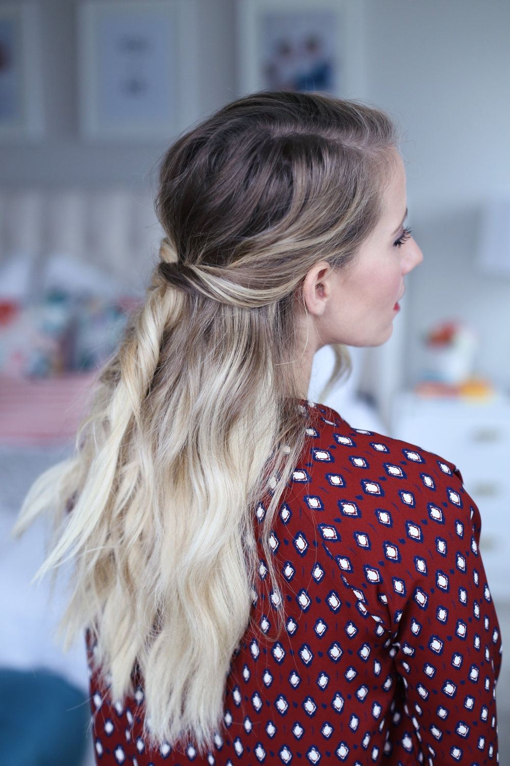 Holiday Hairstyles Using The Goody Spin Pin Twist Me Pretty