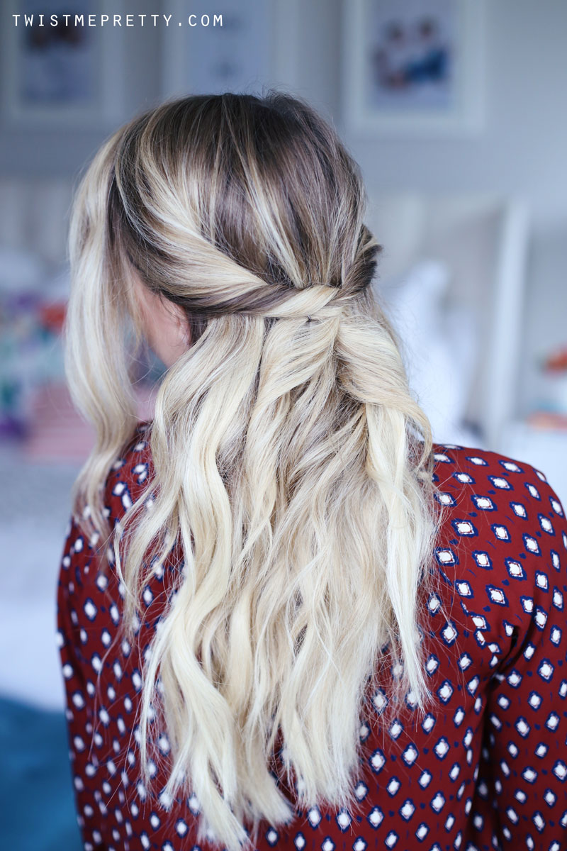 Spin Pins can help you achieve this gorgeous hairstyle! Find out how at Twist Me Pretty.