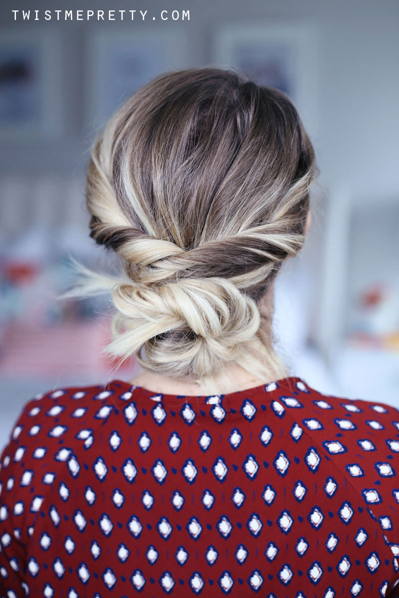 Easy, elegant hairstyles with a spin pin. Abby shares her style.