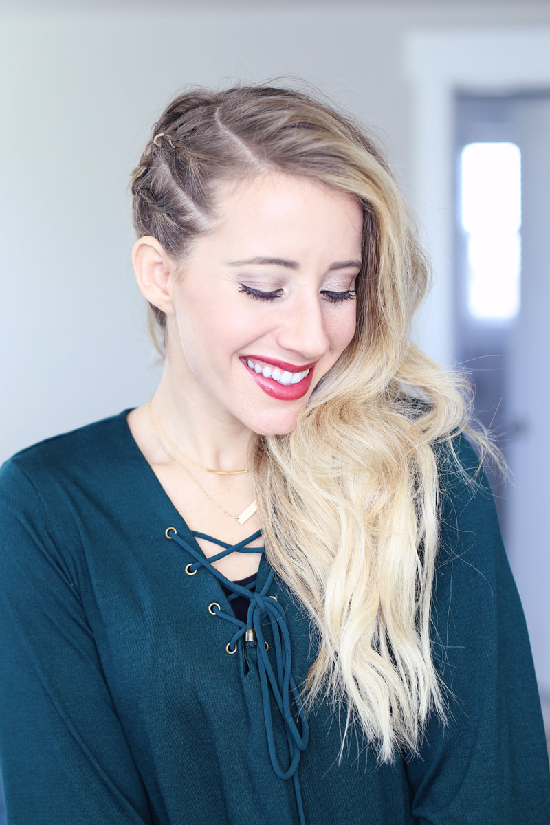 The perfect new year's eve hairstyle to see the year out in style! Twist Me Pretty.