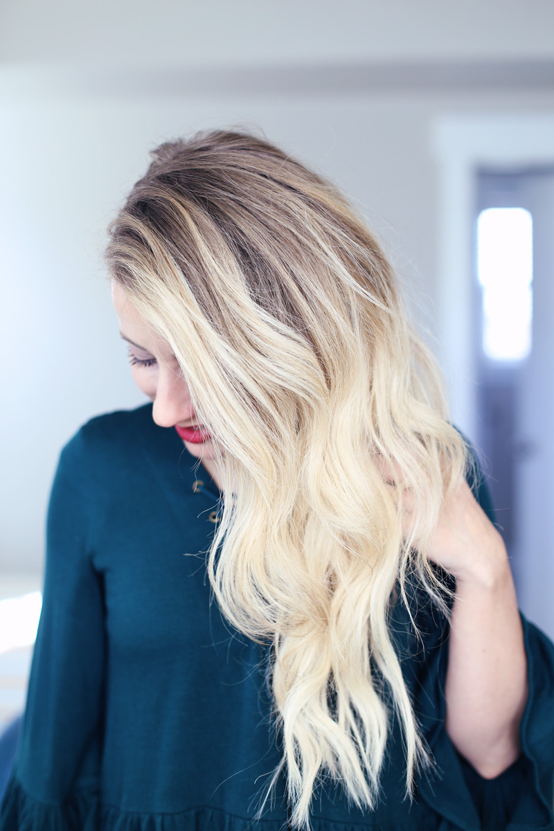 You can have these beautiful waves, with Abby's perfect new year's eve hairstyle.