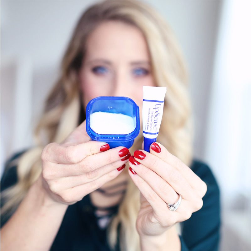 LipSense Lip Balm and sugar make a perfect exfoliator for your lips. Find out more about how to take care of your lips at Twist Me Pretty.