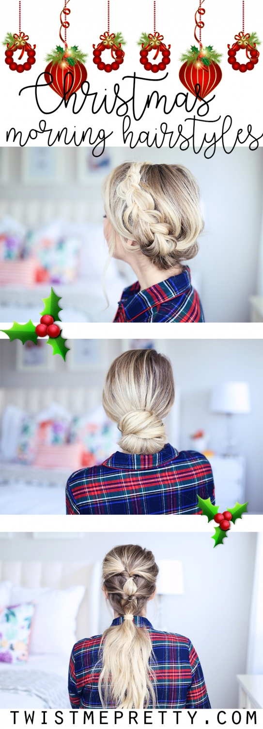 Christmas morning hairstyles. Need inspiration this festive season? Twist Me Pretty has styles for every occasion! twistmepretty.com