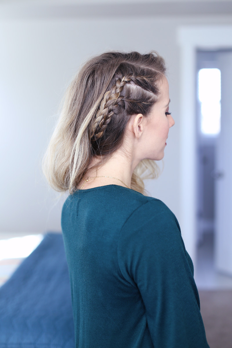Fun and pretty - this new year's eve hairstyle is beautiful!