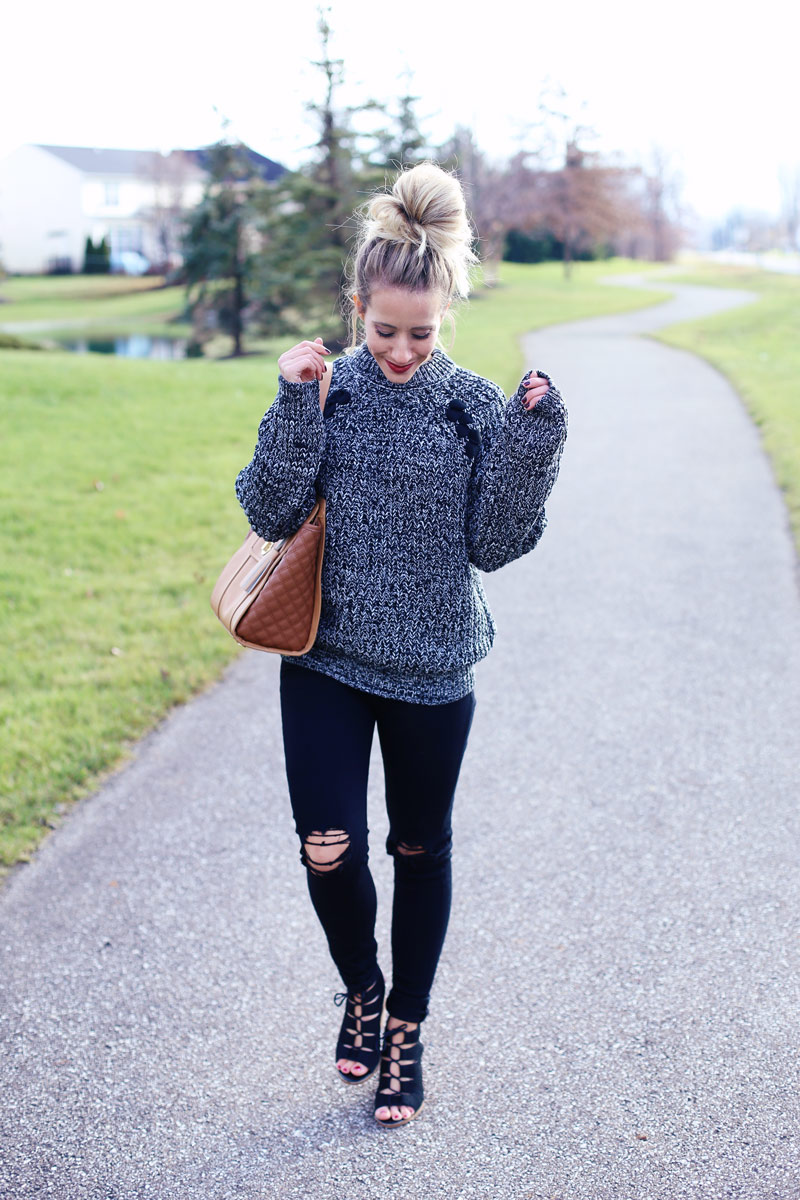 Big buns and comfy sweaters are Abby's favorite combination.