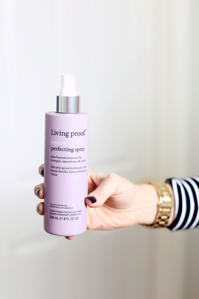 Living proof's Restore Perfecting Spray is just what your hair needs.