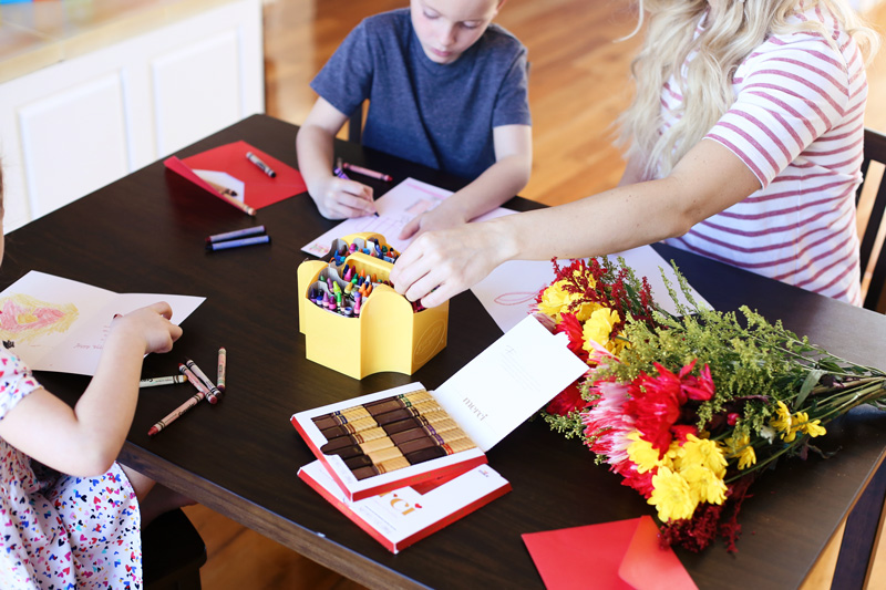 Delicious chocolates, flowers, and heartfelt cards are great Valentine's Day teacher gifts.