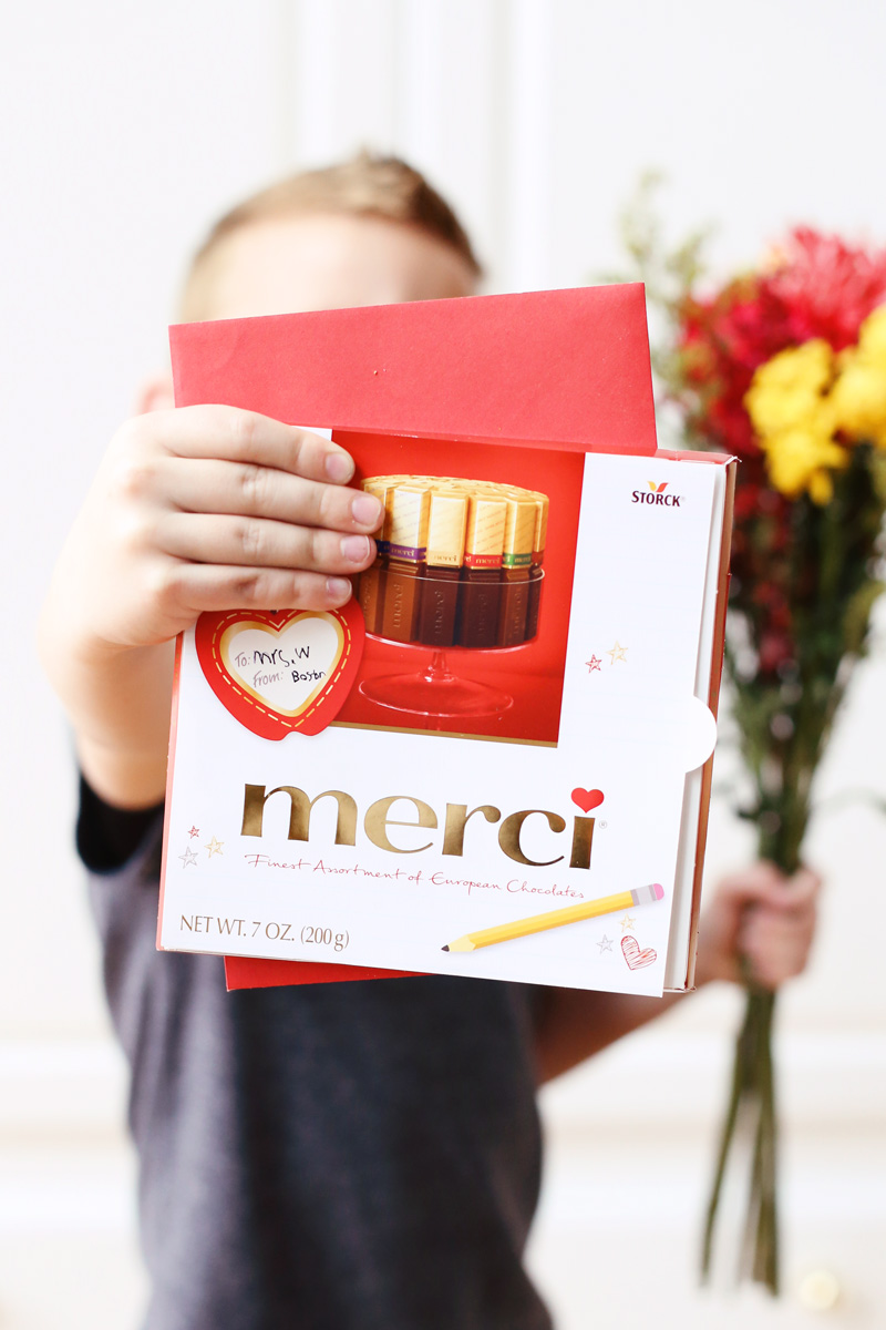 merci chocolates make the perfect Valentine's Day gift for teachers
