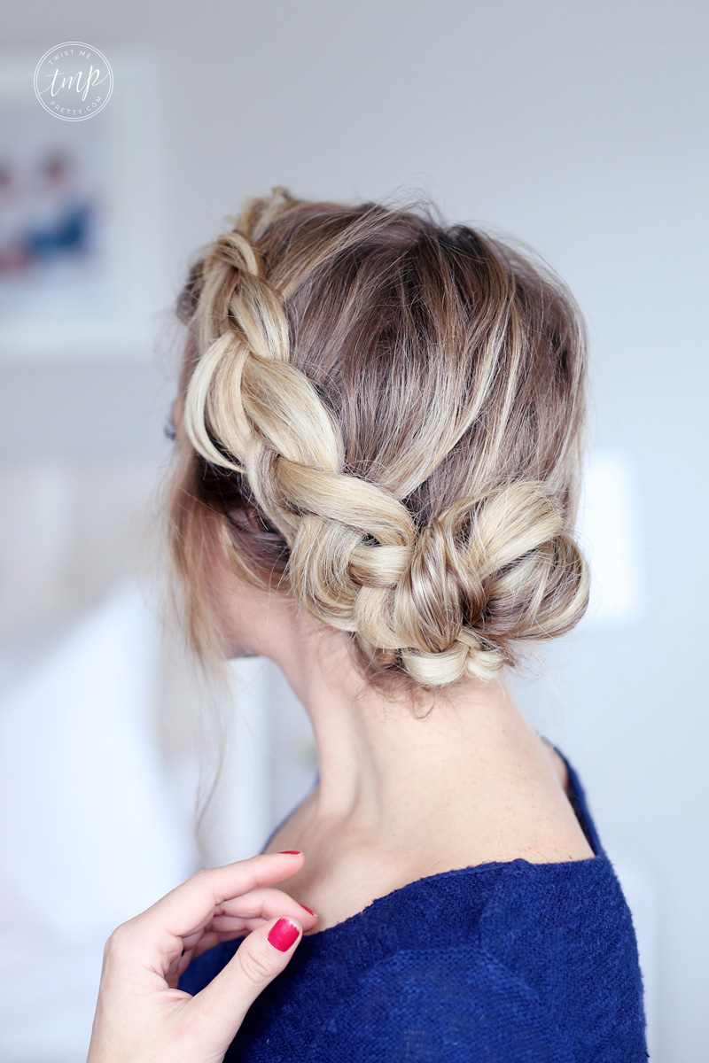 Beautiful Braided Bun-Quick Easy and Fun
