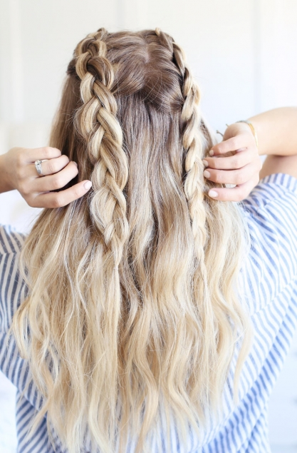 Texturized Braided Hairstyle