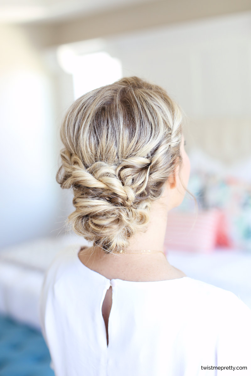 Easy Homecoming Updo Twisted Hairstyle Twist Me Pretty