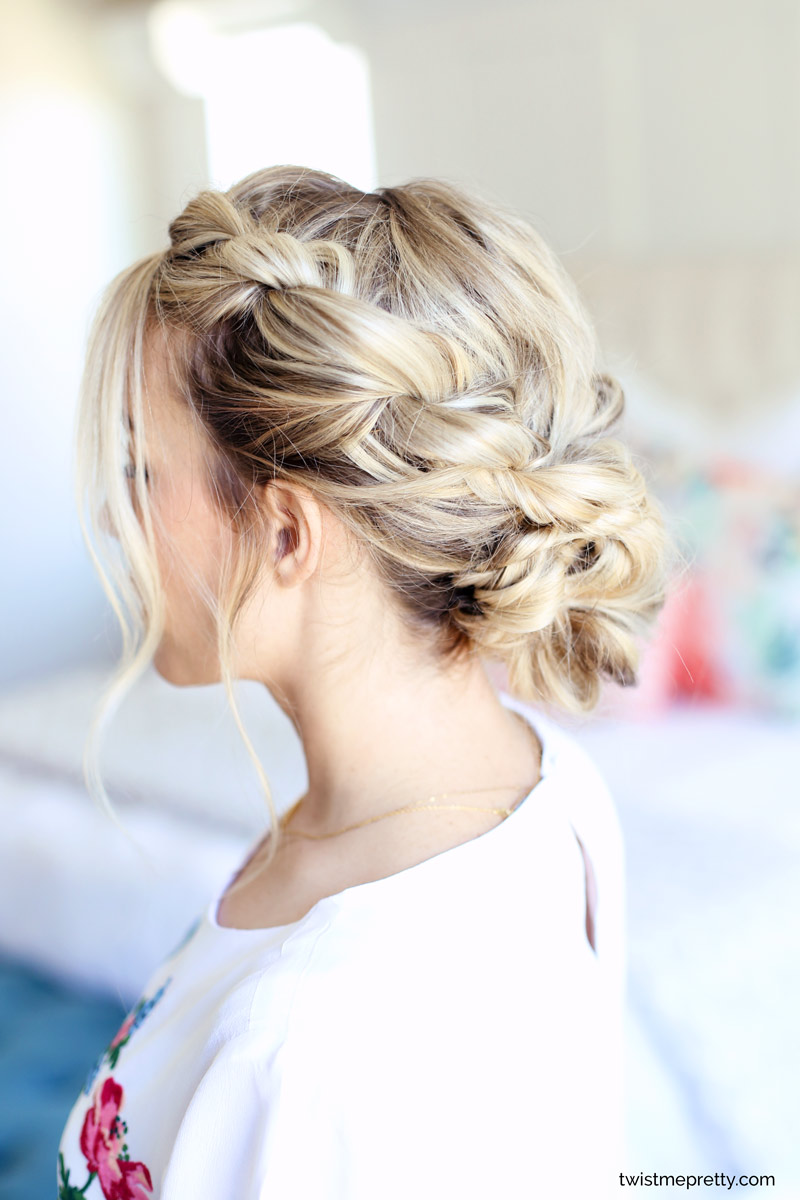 Easy Homecoming Updo | Twisted Hairstyle - Twist Me Pretty