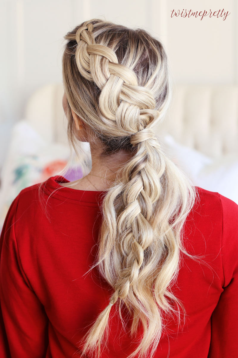 Braided Ponytail, the perfect Christmas Hairstyle! - Twist ...