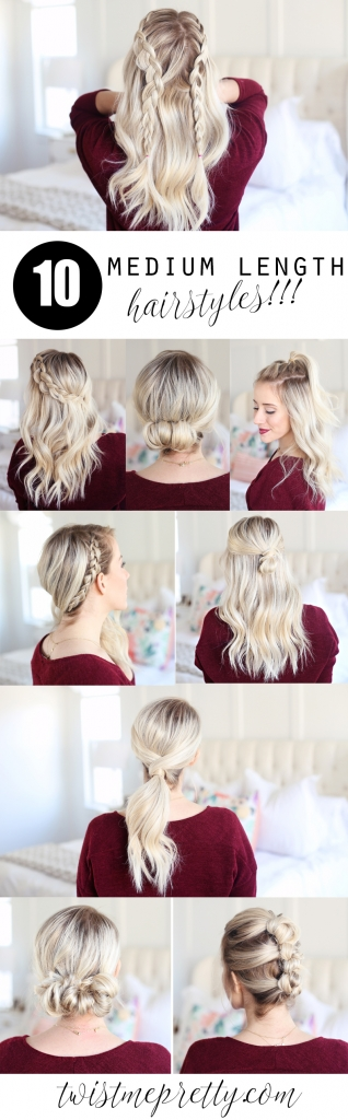 10 Medium Length Hairstyles Twist Me Pretty