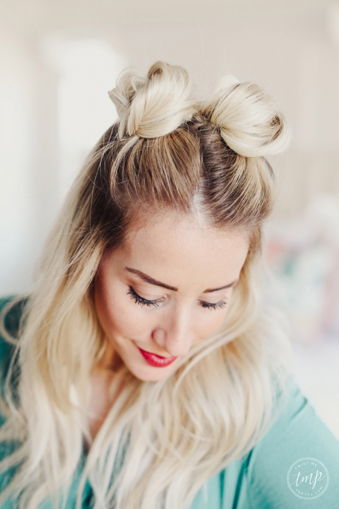 How To Do Space Buns Twist Me Pretty