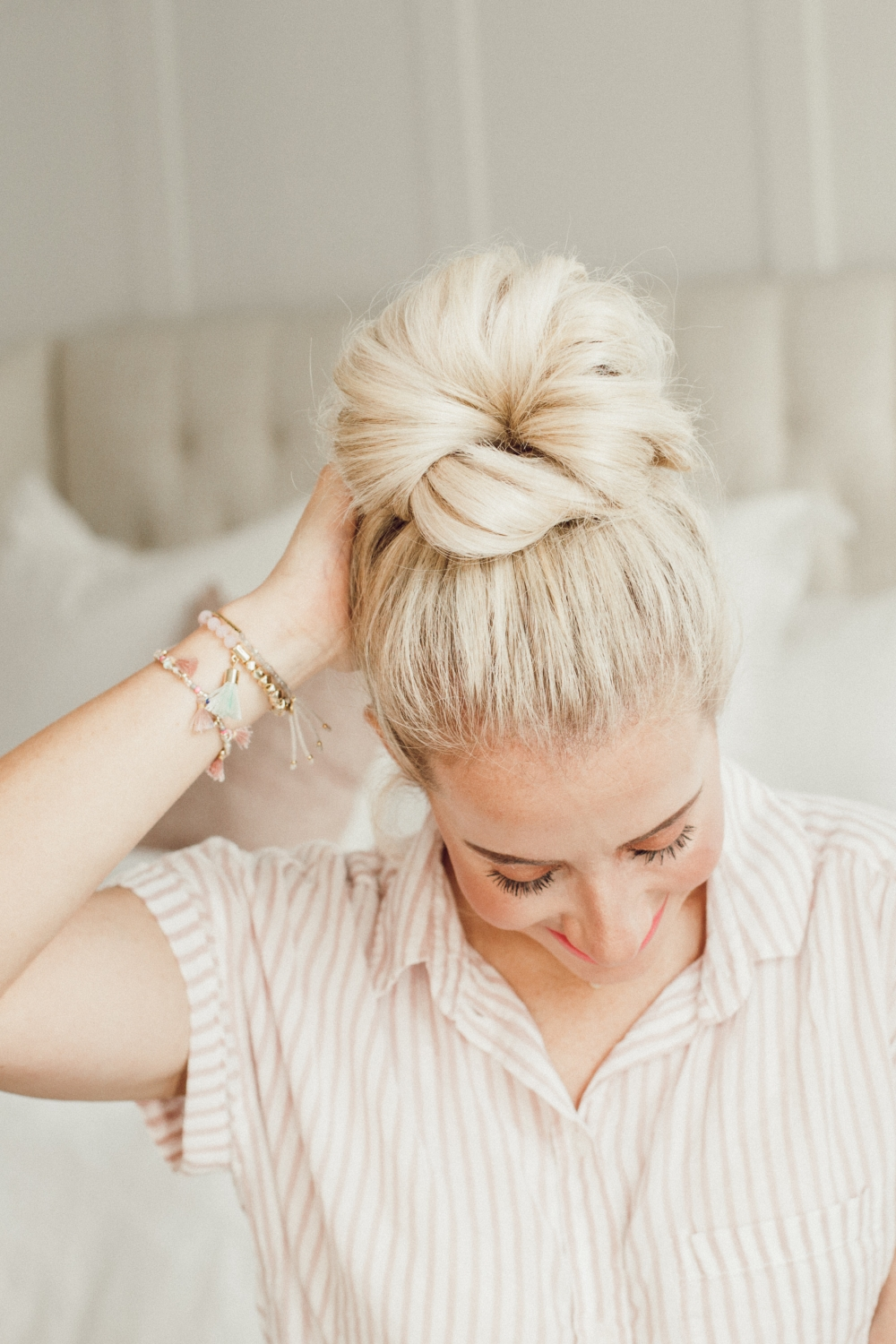 how to do a long hair updo with abby from twistmepretty.com
