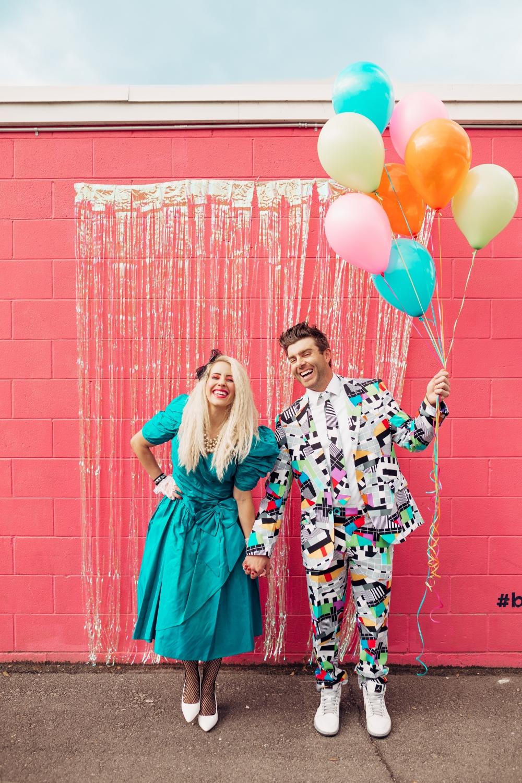 80's couple costume