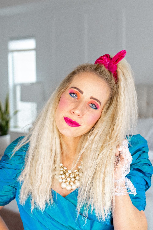 80's hair/makeup tutorial