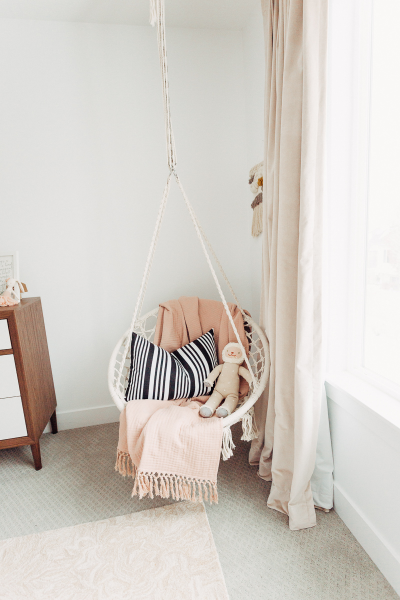 swing ideas in little girls room