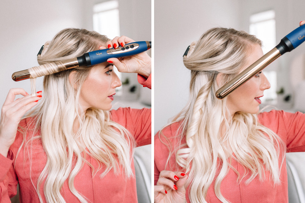 how to curl hair with a curling wand with flourish by twistmepretty.com