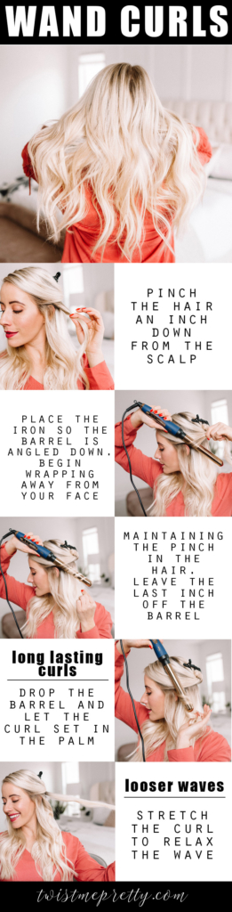 Wand curls step by step by twistmepretty.com
